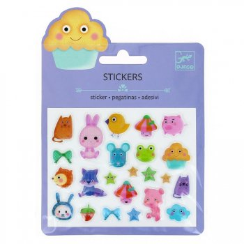 Mini stickers Animaux Kawaï Relief 2D