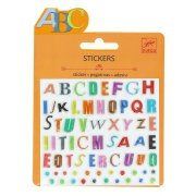 Mini stickers Lettres Couleurs Relief 2D