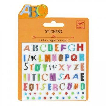 Mini stickers Lettres Couleurs Relief 2D