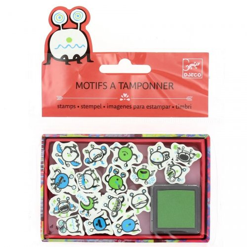 Mini tampons Emoticones + Encreur vert