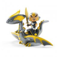 Arty Toys - Guerrier et Dragon Chrome et Inferno