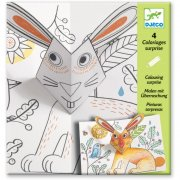 4 Coloriages Pop Up Animaux C�lins