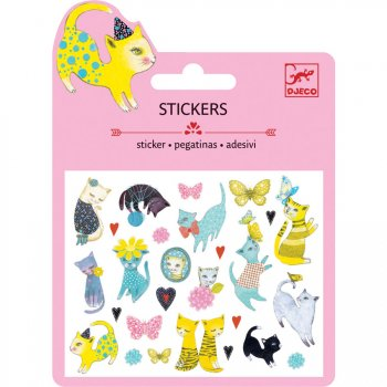 Mini stickers Chats Glitter