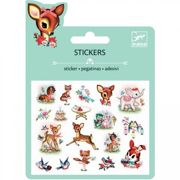 Mini stickers Animaux Vintage Relief 2D