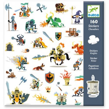 160 Stickers Chevaliers