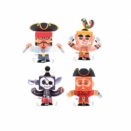Kit 4 Personnages Animés DIY Pirate