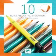 10 Feutres Pinceaux - Tertiaire