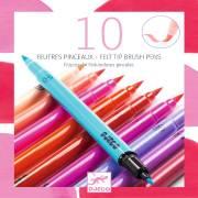 10 Feutres Pinceaux - Nuances Roses