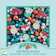 450 Perles en Bois - Petis Animaux