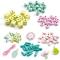 450 Perles en Bois - Feuilles et Fleurs images:#2