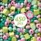 450 Perles en Bois - Feuilles et Fleurs images:#3