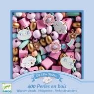 450 Perles en Bois - Arc-en-Ciel Pastel