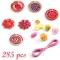 450 Perles en plastique - Fleurs images:#2