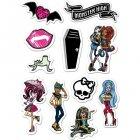 11 Stickers en sucre Monster High