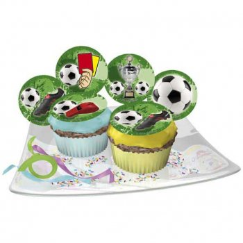 12 Mini Disques Foot - Sucre