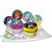 12 Pastilles en sucre Monster High