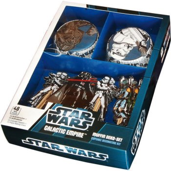 kit 24 caissettes et d co cupcakes star wars pour l. Black Bedroom Furniture Sets. Home Design Ideas