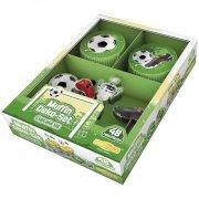 Kit 24 Caissettes et D�co � Cupcakes Foot