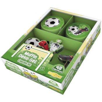 Kit 24 Caissettes et Déco à Cupcakes Foot