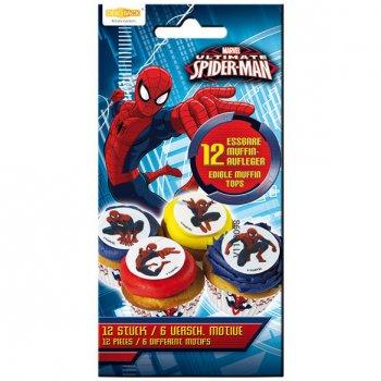 12 Pastilles en sucre Spider-man