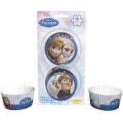 50 Caissettes � Cupcakes Reine des Neiges sur glace