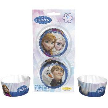 50 Caissettes à Cupcakes Reine des Neiges sur glace