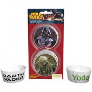 50 Caissettes à Cupcakes Yoda et Dark Vador (Star Wars)