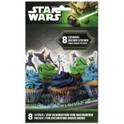 8 Stickers en sucre Star Wars Clone
