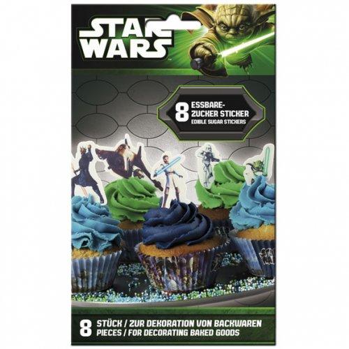 8 Stickers en sucre Star Wars Clone