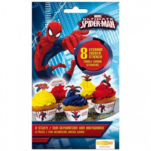 8 Stickers en sucre Spiderman