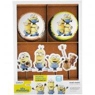 Kit 24 Caissettes et Déco Cupcakes Minions