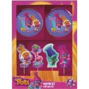 Kit 24 Caissettes et Déco Cupcakes Trolls