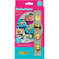 12 Décors en sucre Emoji Fun