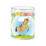 Verre Decopop® à personnaliser (décor poney)