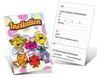 6 invitations Monsieur Madame