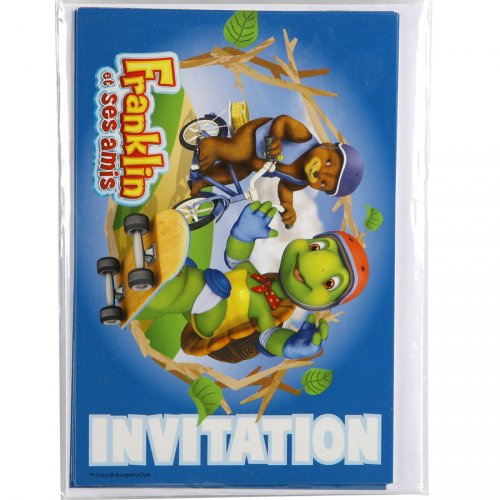 6 invitations Franklin et ses amis