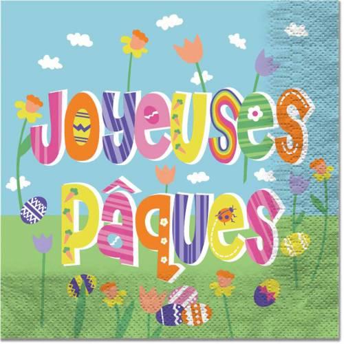 20 Serviettes Joyeuses Pâques