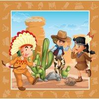 Contient : 1 x 20 Serviettes Indiens et Cowboys