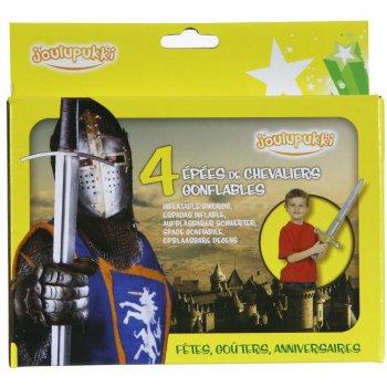 4 Epées Chevaliers gonflables