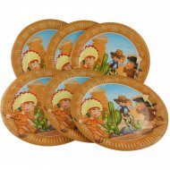 6 Assiettes Indiens et Cowboys