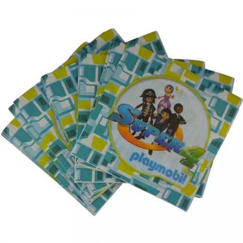 20 Serviettes Super 4 Playmobil