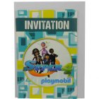 6 Invitations Super 4 Playmobil