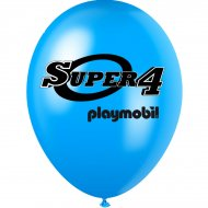 6 Ballons Super 4 Playmobil