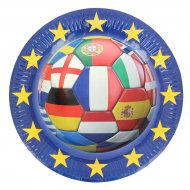 6 Assiettes Football Euro