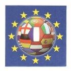 20 Serviettes Football Euro