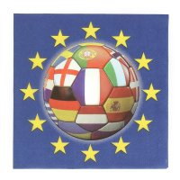 Contient : 1 x 20 Serviettes Football Euro