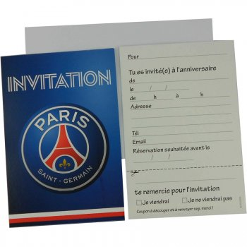 6 Invitations Foot PSG