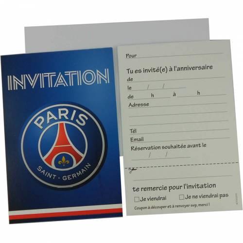 6 Invitations Foot PSG