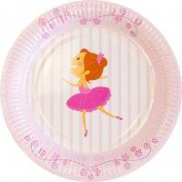 Contient : 1 x 6 Assiettes Ballerine Jolie