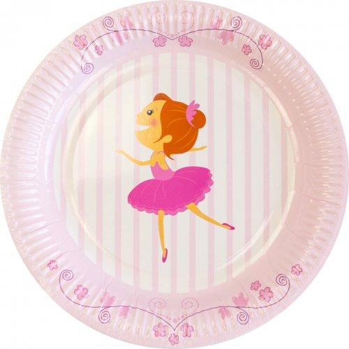 6 Assiettes Ballerine Jolie